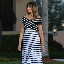 Melania u sjajnoj haljini Caroline Herrere