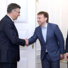 Premijer Andrej Plenković i Maksim Poletajev (Foto: Patrik Macek/PIXSELL)