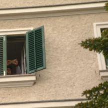 Mirjana Sanader slikala novinare ispred kuće obitelji Sanader (Foto: Dnevnik.hr)