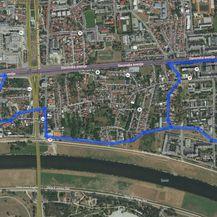 Alternativni pravac na Slavonskoj u smijeru zapad-istok (Foto: Bing Maps)