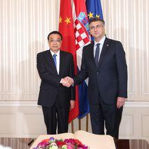 Zagreb: Sastanak Andreja Plenkovića i kineskog premijera Li Keqianga (Foto: Luka Stanzl/PIXSELL)