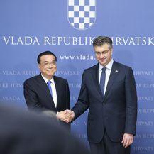 Zagreb: Izjave nakon sastanka Andreja Plenkovića i kineskog premijera Li Keqianga (Foto: Luka Stanzl/PIXSELL)