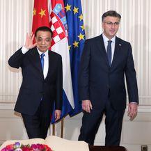 Kineski i hrvatski premijer (Foto: Luka Stanzl/Pixsell)