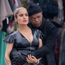 Salma Hayek u PVC kombinezonu na setu filma 'The Hitman's Wife's Bodyguard' koji se snima u Rovinju