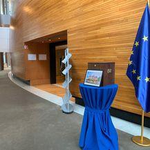 Prikupljanje donacija u Europskom parlamentu (Foto: čitatelj Dnevnika.hr)