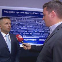 Romano Vaupotić, voditelj krim policije PU Koprivničko-križevačke, i Domagoj Mikić (Foto: Dnevnik.hr)