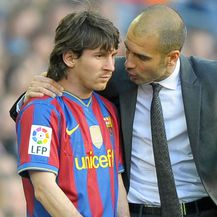 Lionel Messi i Pep Guardiola (Foto: AFP)
