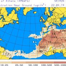 Satelitske predikcije rute oblaka prašine (University of Athens) - 2