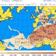 Satelitske predikcije rute oblaka prašine (University of Athens) - 3
