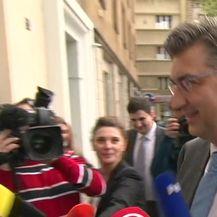 Andrej Plenković uoči sjednice Predsjedništva HDZ-a (Video: Dnevnik.hr)