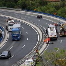 Izbjegnuta tragedija na vijaduktu Svilno (Foto: Goran Kovacic/PIXSELL) - 7