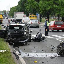 Prometna nesreća na Slavonskoj aveniji (Video: Josip Regovic/PIXSELL)