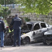 Izgorio BMW u Solinu (Foto: Ivo Cagalj/PIXSELL) - 1