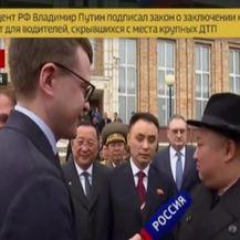 Kim Jong Un dao izjavu po dolasku u Rusiju (Video: APTN)