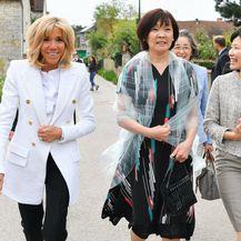 Brigitte Macron i Akie Abe