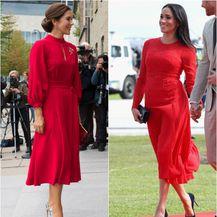 Mary i Meghan u crvenoj haljini