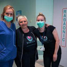 Renata Huzanić i kolegice na radnom mjestu u Petrovoj bolnici
