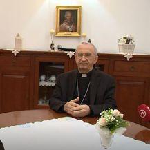 Mons. Želimir Puljić, zadarski nadbiskup, i Sanja Jurišić - 2