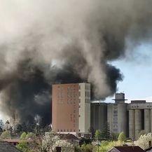 Požar tvornice u Valpovu
