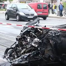 Auto nakon prometne nesreće u Dubravi - 1