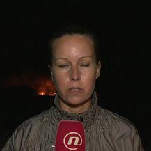 Live javljanje Barbare Štrbac s požarišta (Video: Izvanredne vijesti Nove TV)