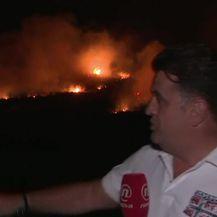 Live javljanje Andrije Jarka s požarišta (Video: Izvanredne vijesti Nove TV)