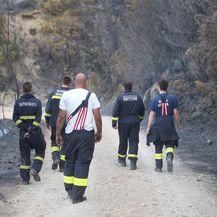 Vatrogasci na požarištu u Lokvi Rogoznici (Foto: Ivo Cagalj/PIXSELL)