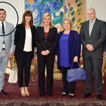 Marin Kamenički na primanju predstavnika komercijalnih radiopostaja u Uredu predsjednice 2017. godine (Foto: Ured predsjednice) - 2