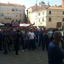 Prosvjed radnika brodogradilišta (Foto: Dnevnik.hr)