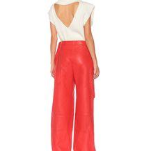 Crvene kožnate hlače brenda Jacquemus - 1