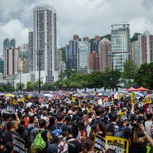 Prosvjedi u Hong Kongu (Foto: DPA/PIXSELL)