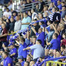 Navijači Dinama na utakmici protiv Rosenborga (Foto: Sanjin Strukic/PIXSELL)