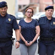 Smiljana Srnec u pratnji policije dolazi na sjednicu Optužnog vijeća (Foto: Vjeran Zganec Rogulja/PIXSELL)