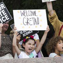 Doček mlade aktivistice Grete Thunberg(Foto: Kena Betancur / AFP)