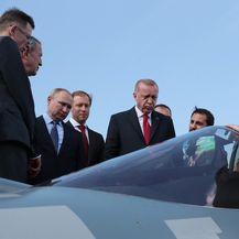 Recep Tayyip Erdogan razgledao SU-57 (Foto: AFP)
