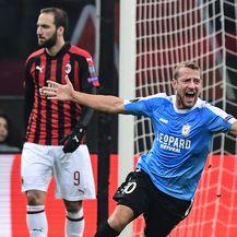 Dudelange slavi pogodak Milanu na San Siru (Foto: AFP)