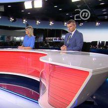 Profesorica Andrea Ambriović Ristov s Instituta Ruđer Bošković u studiju Dnevnika Nove TV - 1