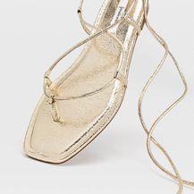 Stradivarius, zlatne sandale, 179,90 kn