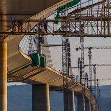 Nastavljaju se radovi na izgradnji Pelješkog mosta - 1