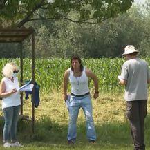 Filip Juričić na setu serije Bogu iza nogu - 2