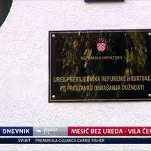 Mesić bez ureda - vila čeka nove stanare (Video: Dnevnik Nove TV)
