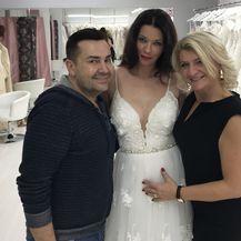 Aleksandra Grdić u vjenčanici u kojoj će se udati (FOTO: Privatni album)