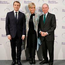 Brigitte i Emmanuel na večeri s Michaelom Bloombergom