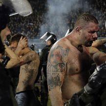 Huligani pretučeni u sukobu s Grobarima (Foto: AFP)
