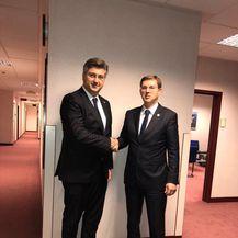 Andrej Plenković i Miro Cerar (Foto: Twitter)