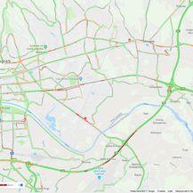Promet u Zagrebu oko 17 sati(Screenshot: Google karta promet)