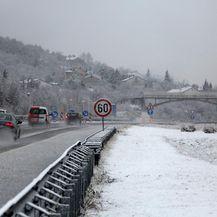Snijeg u Delnicama (Foto: Goran Kovacic/PIXSELL)