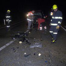 Prometna nesreća kod Buzeta (Foto: Mateo Sardelin/Glas Istre) - 2