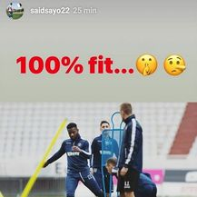 Sporna Saidova objava na Instagramu (Screenshot: Facebook)