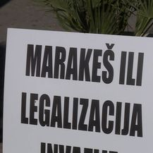 Prosvjed u Splitu (VIDEO: Dnevnik.hr)